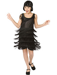 abordables -Flapper Girl Costume de Cosplay Costume de Soirée Enfant Halloween Nouvel an Le Jour des enfants Fête / Célébration Déguisement