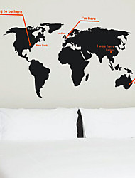 World Map Trip Wall Stickers