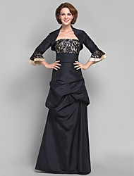 cheap -A-Line Strapless Floor Length Lace Taffeta Mother of the Bride Dress with Lace Pick Up Skirt by LAN TING BRIDE®
