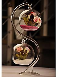 Недорогие -Прозрачной стеклянной вазе с двумя висит шар