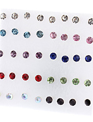 Women's Stud Earrings Simple Style Fashion Costume Jewelry Rhinestone Alloy Jewelry Jewelry For Party Daily Casual Office & Career