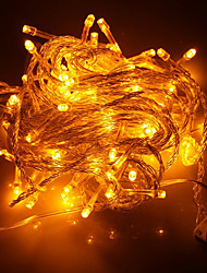 baratos -100-led 10m decoração de férias luz amarela levou luz de corda