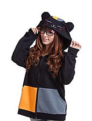 Kigurumi Pigiami Gatto Felpa con cappuccio Feste/vacanze Pigiama a fantasia animaletto Halloween Collage Kigurumi Per Unisex Halloween