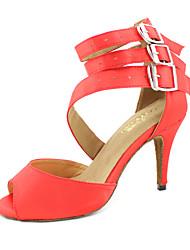 Недорогие -прекрасные индивидуальные женщин атласа верхней танцевальной обуви