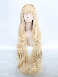 cheap -Cosplay Wigs Vocaloid SeeU Golden Long Anime/ Video Games Cosplay Wigs 80 CM Heat Resistant Fiber Female
