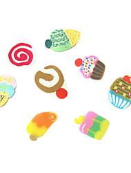 12 Cores 3D Fimo Fatia do bolo Nail Art Decoração
