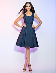 A-Line Straps Knee Length Taffeta Cocktail Party Homecoming Holiday Dress with Draping by TS Couture®