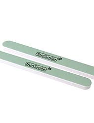 2PCS Feilen Polieren Schleifpapier Round Acrylic Nail Art UV Gel Tipps