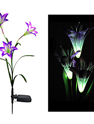 cheap -Color Changing Solar Lily Flower Stake Light (CIS-58263A)