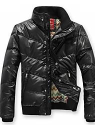 Недорогие -Мужская стенд воротник PU строчкой и пиджаки