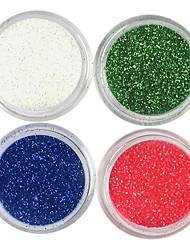 Недорогие -4 цвета лазерного Блеск акриловая пудра Набор для 3D Nail Art № 5