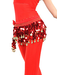 cheap -Belly Dance Belt Women's Training Chiffon Coins