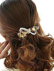 abordables -Femme Strass Alliage Elégant Pince à Cheveux Fleur