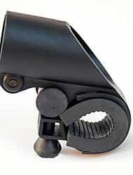Gun Forma Preto ABS bicicleta Clipe Lanterna (adaptável ao diâmetro do guidão dentro de 2,7 centímetro)