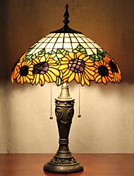Недорогие -Подсолнечник украшения настольные лампы, 2 Легкий, Тиффани Смола Стекло картины