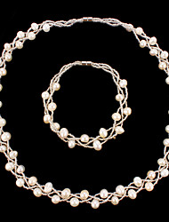 cheap -Women's Pearl Wedding Party Special Occasion Anniversary Birthday Gift Necklaces Bracelets