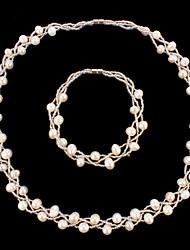 Недорогие -Жен. Жемчуг Свадьба Для вечеринок Особые случаи День рождения Ожерелья браслеты