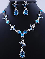 abordables -Femme Soirée Occasion spéciale Anniversaire Quotidien Alliage Boucles d'oreille Colliers décoratifs