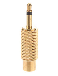 cheap -Metal 3.5mm Mono Plug to RCA Jack Adaptor Gold Plated