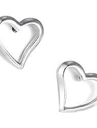 Prekrasna Sterling Silver Stud Naušnice u obliku srca