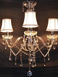 preiswerte -Max 40W Zeitgenössisch Kristall Galvanisierung Kronleuchter Wohnzimmer / Schlafzimmer / Esszimmer