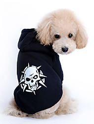 cheap -Dog Hoodie Dog Clothes Fashion Skulls Costume For Pets