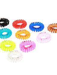 Недорогие -(10шт) Мода многоцветный Пластиковые стяжки для волос для детей (оранжевый, зеленый и более)