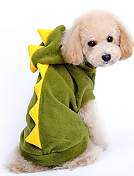 cheap -Dog Costume Hoodie Dog Clothes Cartoon Red Green Cotton Costume For Pets Men's Women's Cute Cosplay