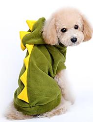 Hund Kostume Hættetrøjer Hundetøj Sødt Cosplay Tegneserier Rød Grøn Kostume For kæledyr