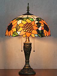 Недорогие -Подсолнечник Pattern настольные лампы, свет 2, Тиффани Смола Стекло картины