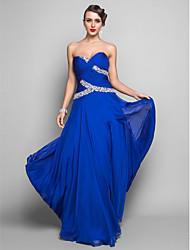 Sheath / Column Sweetheart Floor Length Chiffon Prom Dress with Crystal Detailing Ruching Split by TS Couture®