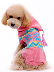 cheap -Dog Sweater Hoodie Dog Clothes Snowflake Woolen Costume For Pets Men's Women's Christmas