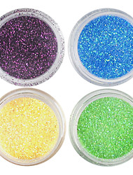 cheap -4pcs Glitter & Poudre Acrylic Powder Powder Decoration Kits Abstract Classic Wedding Punk High Quality Daily