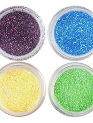 baratos -4pcs Glitter & Poudre Pó acrílico Pó Kits de decoração Abstracto Clássico Casamento Punk Alta qualidade Diário