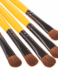 5 Brush Sets Syntetisk Hår Ansigt / Lip / Øjne