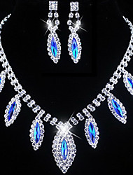 cheap -Women's Rhinestone Jewelry Set Include Earrings Necklaces - Alloy For Wedding Party Special Occasion Birthday Engagement Gift