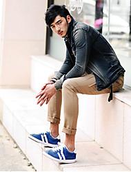 cheap -Men'S Washed Korea Style Denim Jacket