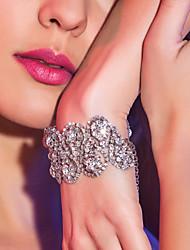 Elegante Legierung mit Strass Damen-Armband