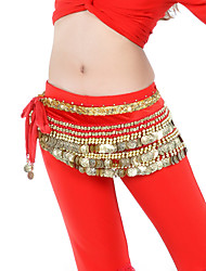cheap -Belly Dance Belt Women's Training Velvet Beading Coins