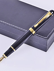 Personalized Gift Premium Business Style Black Metal Engraved Ink Pen