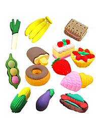 cheap -Special Design Fast Food Shaped Eraser Set(4 PCS) For School / Office