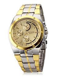 Недорогие -Муж. Наручные часы Кварцевый Повседневные часы сплав Группа Аналоговый Кулоны Серебристый металл / Золотистый - Белый Черный Золотой с черным Два года Срок службы батареи / SOXEY SR626SW