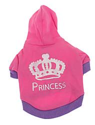 Недорогие -Собака Толстовки Одежда для собак Тиары и короны Розовый Хлопок Костюм Для домашних животных Муж. Жен. На каждый день
