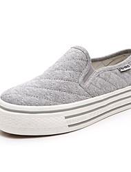 Segeltuch-Frauen flache Ferse Comfort Loafers (weitere Farben)