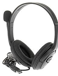 halpa -Langallinen USB stereokuulokkeet Headset Remote PS3