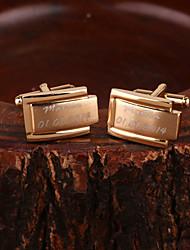 Недорогие -подарок дружки персонализированные золотые запонки