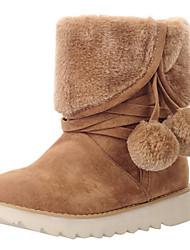 Недорогие -Жен. Зимние ботинки Замша Спорт в свободное время Снежные виды спорта Зима