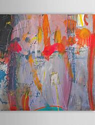 povoljno -Ručno oslikana Sažetak Kvadrat Platno Hang oslikana uljanim bojama Početna Dekoracija Jedna ploha