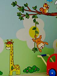 billige -Dyr Tegneserie Vægklistermærker Fly vægklistermærker Dekorative Mur Klistermærker, Vinyl Hjem Dekoration Vægoverføringsbillede Væg