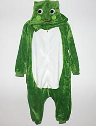 Kigurumi plišana pidžama Žaba Onesie pidžama Kostim Flanel Flis Cosplay Za Dječji Zivotinja Odjeća Za Apavanje Crtani film Noć vještica